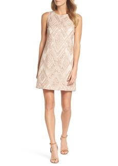 Vince Camuto Sequin Embroidered Sheath Dress (Regular & Petite)