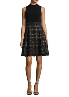 Vince Camuto Sequin Fit-and-Flare Dress