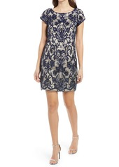 Vince Camuto Sequin Floral Cocktail Sheath Dress