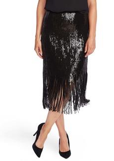 Vince Camuto Sequin Fringe Skirt