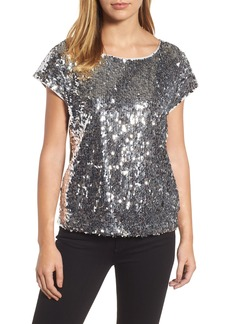 Vince Camuto Sequin Front Top (Regular & Petite)