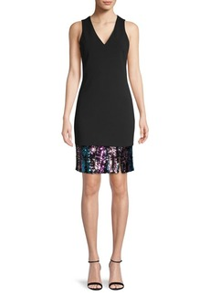 Vince Camuto Sequin Hem Cocktail Dress