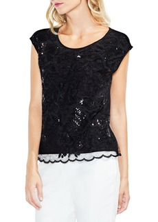 Vince Camuto Sequin Lace Blouse