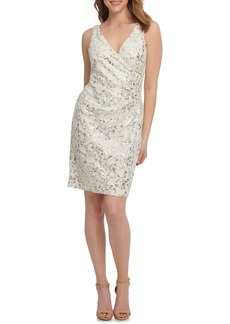 Vince Camuto Sequin Lace Cocktail Dress