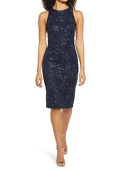 Vince Camuto Sequin Lace Sleeveless Sheath Dress