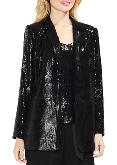VINCE CAMUTO Sequin Open Front Blazer