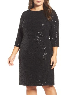 Vince Camuto Sequin Sheath Dress (Plus Size)
