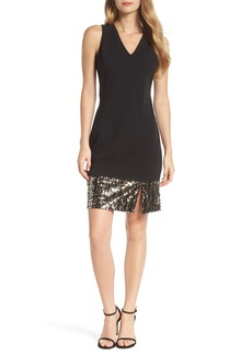 Vince Camuto Sequin Cocktail Dress (Regular & Petite)