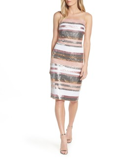 Vince Camuto Sequin Stripe Dress