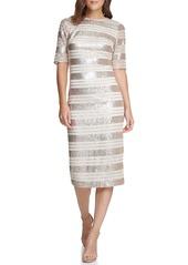 Vince Camuto Sequin Stripe Midi Dress