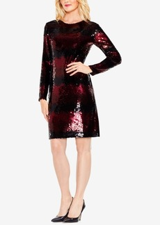 Vince Camuto Sequin-Striped Dress