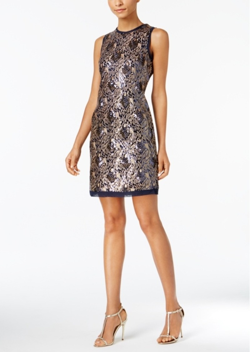 f701f80b Vince Camuto Vince Camuto Sequined Feather Sheath Dress | Dresses