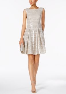 Vince Camuto Sequined Fit & Flare Dress
