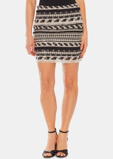 Vince Camuto Sequined Fringe Pencil Skirt