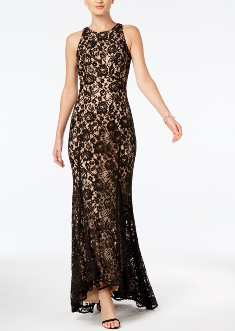 35baf7ab679b Vince Camuto Vince Camuto Sequined Lace Godet-Pleat Gown