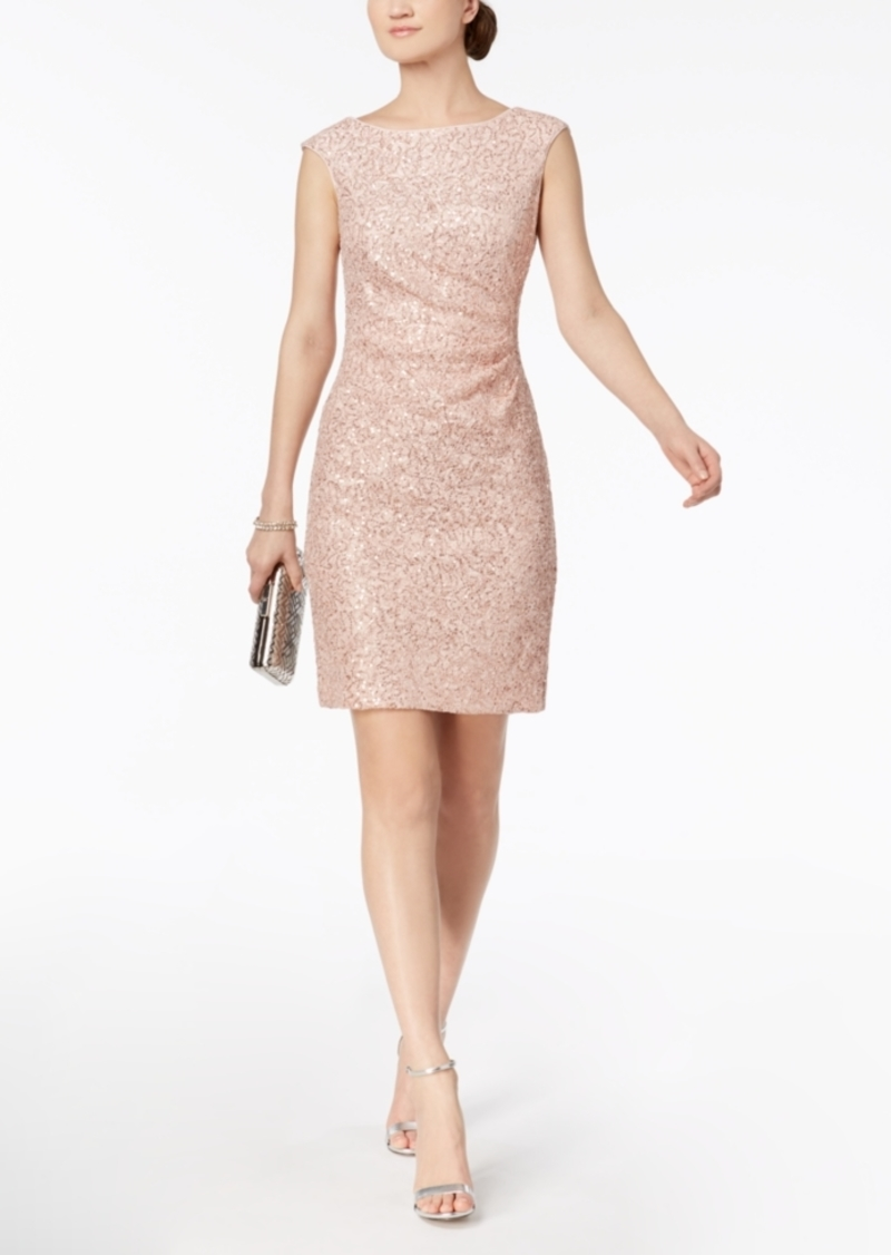 224264f95ff1 Vince Camuto Vince Camuto Sequined Lace Starburst Dress