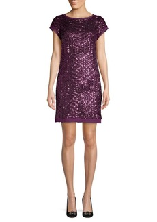 Vince Camuto Sequined Mini Shift Dress
