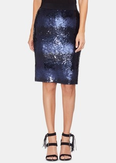 Vince Camuto Sequined Ombre Pencil Skirt