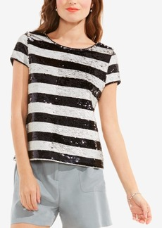 Vince Camuto Sequined Striped Top