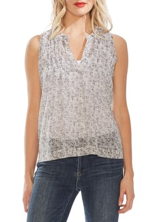 Vince Camuto Shadow Etching Pintuck Blouse