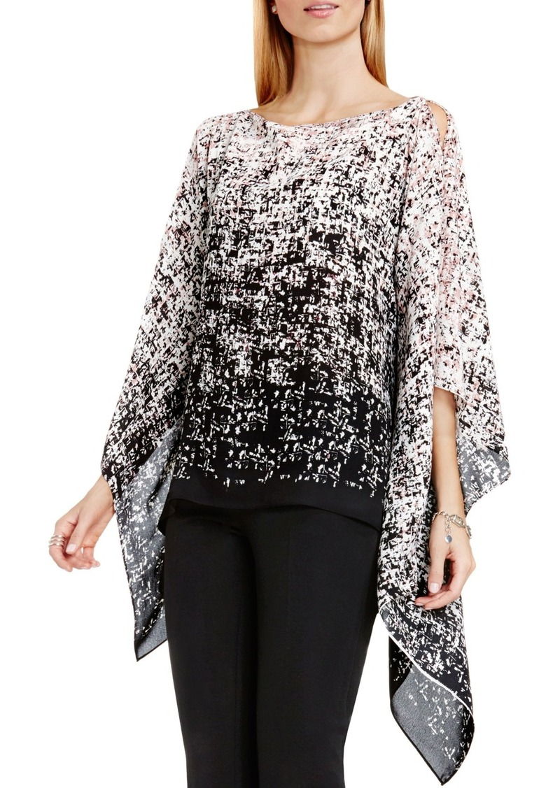 Vince Camuto 'Shadow Textures' Asymmetrical Poncho Top