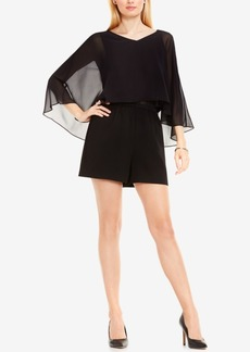 Vince Camuto Sheer Capelet Romper