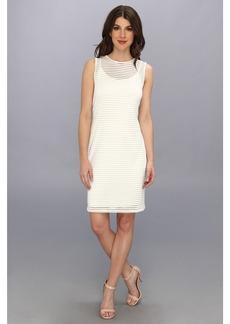 Vince Camuto Sheer Stripe Dress
