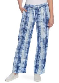 Vince Camuto Shibori Linen Blend Drawstring Pants