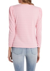 Vince Camuto Shirred Puff Sleeve Top