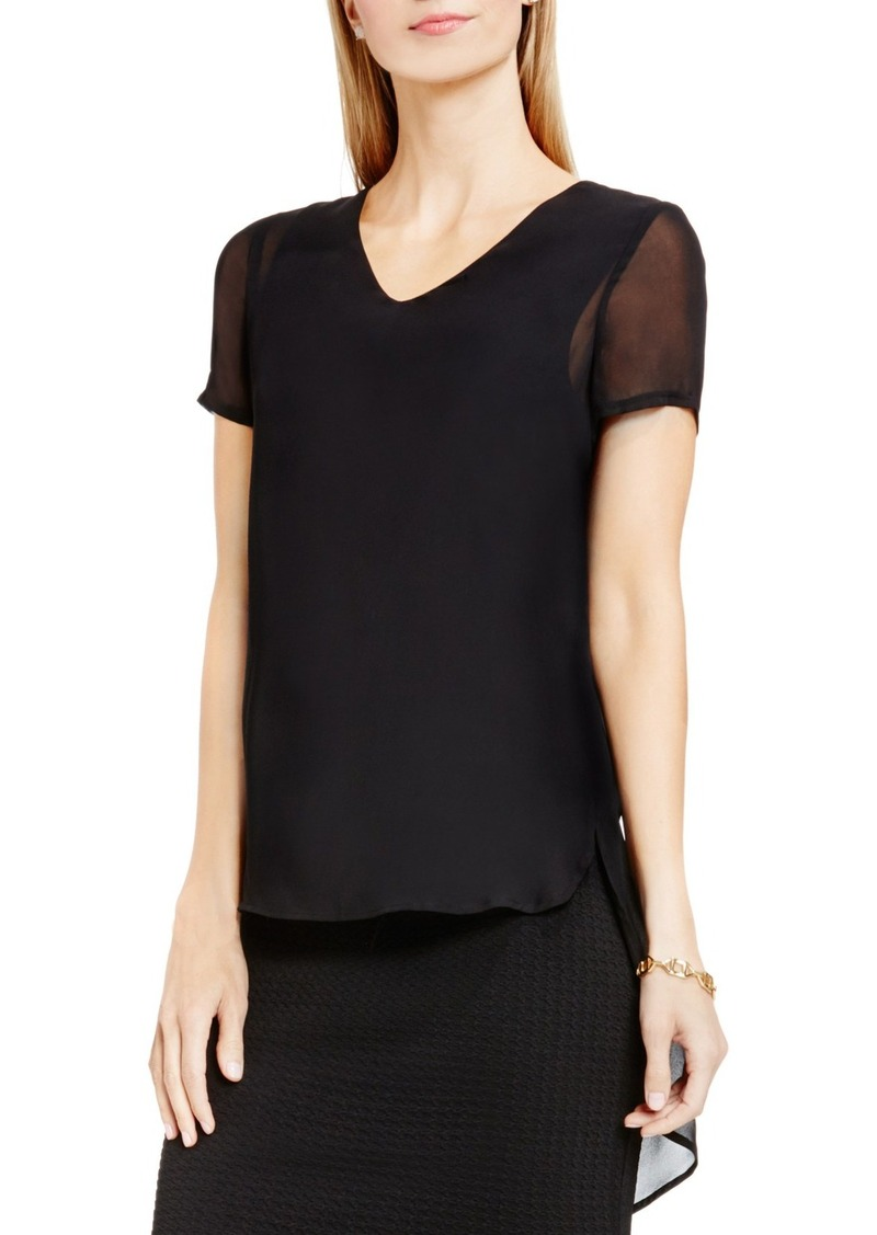Vince Camuto Shirttail V-Neck Top