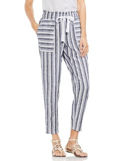 Vince Camuto Shore Linen Blend Stripe Drawstring Pants