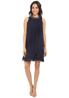 Vince Camuto Short Chiffon Dress w/ Single Side Pleated Piece