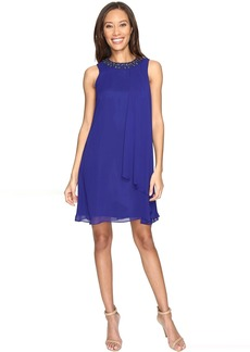 Vince Camuto Short Chiffon Dress with Side Pleat