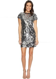 Vince Camuto Short Sleeve All Over Sequin Dress