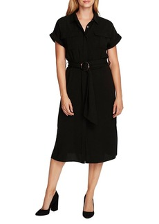 Vince Camuto Short-Sleeve Belted Shirtdress