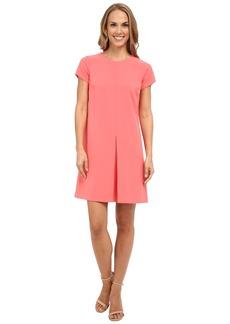 Vince Camuto Short Sleeve Dress w/ Invert Front Pleat