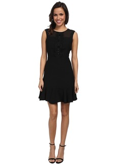 Vince Camuto Short Sleeve Dress w/ Sheer Lace Errb Trim