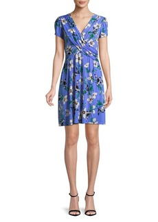 Vince Camuto Short-Sleeve Floral Dress