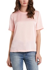 Vince Camuto Short Sleeve Hammered Satin Top