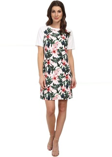 Vince Camuto Short Sleeve Jungle Lily Shift Dress