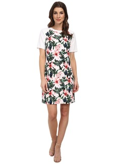 Vince Camuto Short Sleeve Jungle Lily Shift Dress