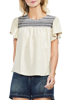 Vince Camuto Short Sleeve Peasant Top