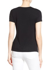 Vince Camuto Short Sleeve Side Pleat Asymmetrical Top (Regular & Petite)