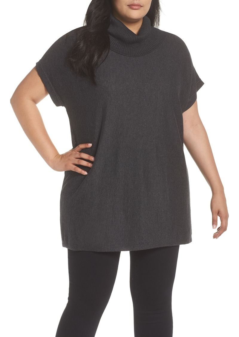 52a947b4502 Vince Camuto Vince Camuto Short Sleeve Turtleneck Sweater (Plus Size ...
