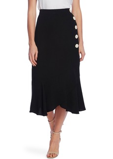 Vince Camuto Side Button Asymmetrical Skirt