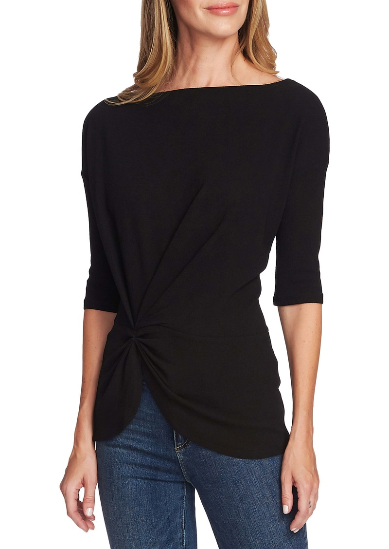 Vince Camuto Side Cinched Crepe Top