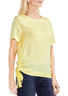 VINCE CAMUTO Side Drawstring Crinkle Top