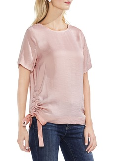 Vince Camuto Side Drawstring Rumple Blouse