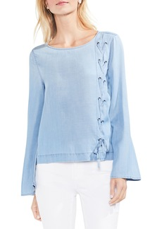 Vince Camuto Side Lace-Up Blouse