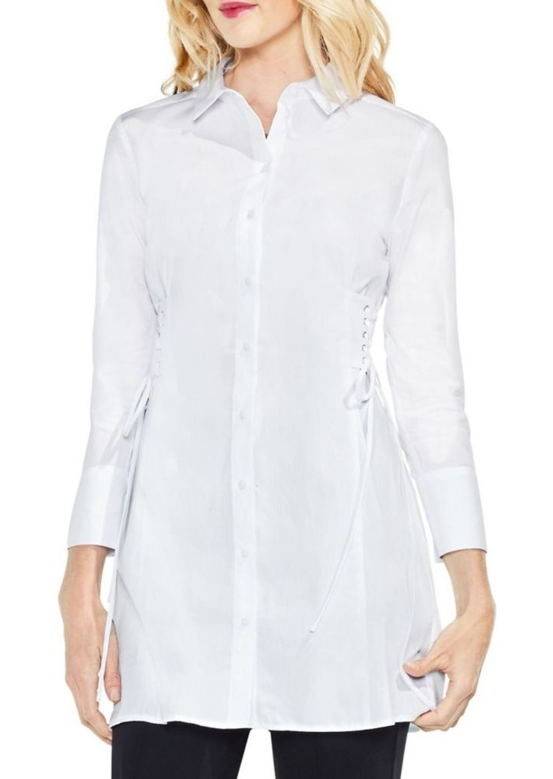 e76f43fdc85610 Vince Camuto Vince Camuto Side Lace-Up Button-Down Shirt | Casual Shirts